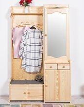 Garderobe Kiefer massiv Vollholz natur 28A - 200 x