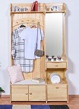 Garderobe Kiefer massiv Vollholz natur 29B - 200 x