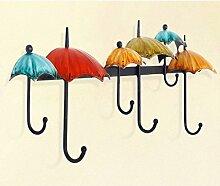 Garderobe Kleiderbügel Eisen Dekorative Haken verknüpft mit dem kreativen Konzept der Wandhaken Hanging Hook Personalisierte Haken ( Farbe : A )