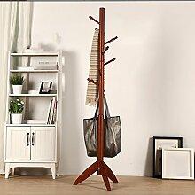 Garderobe Kleiderbügel Massivholz Wandhaken Wohnzimmer Schlafzimmer Bodenbelastbar Stark hängende Kleiderbügel 8 Haken ( Farbe : C )
