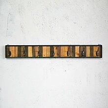 Garderobe Kleiderhaken Massiv Holzkleider Kleiderbügel Kreativ Retro Hall Wand Coat Rack ( Farbe : Grün , größe : L )