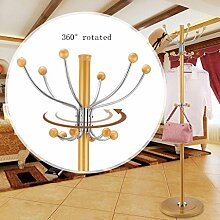 Garderobe Kleiderständer aus rostfreiem Stahl einfache Montage Kleiderbügel Landung kreative Racks ( Farbe : Gold , größe : C )