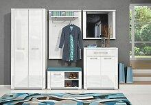 Garderobe Komplett - Set D Sili, 5-teilig, Farbe: