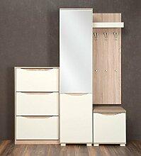 Garderobe Komplett - Set E Baeza, 3-teilig, Farbe: