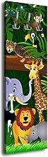Garderobe mit Design Animals G002 40x125cm Wandgarderobe Kinder Tiere Dschungel