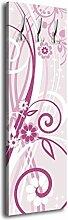 Garderobe mit Design Annabelle G054 40x125cm Wandgarderobe Blüte Style Rosa