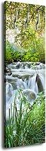 Garderobe mit Design Bach im Wald G419 40x125cm Wandgarderobe Natur Wasserfall Baum