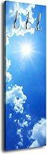 Garderobe mit Design Blauer Himmel G254 40x125cm Wandgarderobe Wolken Sonne Blau