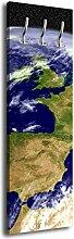 Garderobe mit Design Blauer Planet G415 40x125cm Wandgarderobe Erde Weltall Plane