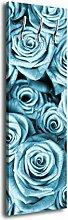 Garderobe mit Design Blaues Rosenfeld G142 40x125cm Wandgarderobe Natur Blau