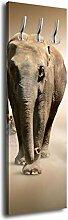 Garderobe mit Design Elefant in einer Gruppe G155 40x125cm Wandgarderobe Kenia Tansania Elefan