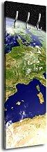 Garderobe mit Design Erde G005 40x125cm Wandgarderobe Weltall Space Plane