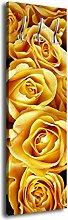 Garderobe mit Design Gelbe Rosen G349 40x125cm Wandgarderobe Liebe Rose Strauss
