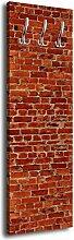 Garderobe mit Design Klinkersteine Rot G152 40x125cm Wandgarderobe Stein Klinker Alt Wand