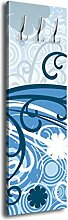 Garderobe mit Design Laura G111 40x125cm Style Blüte Wandgarderobe Blau