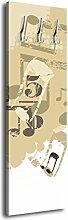 Garderobe mit Design Musik G060 40x125cm Wandgarderobe Musik Style Beige