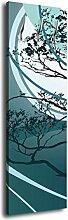 Garderobe mit Design Nadja G101 40x125cm Floral Natur Wandgarderobe Türkis