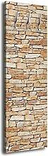 Garderobe mit Design Natursteinmauer Hell G216 40x125cm Wandgarderobe Stein Sandstein Mauer