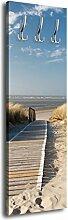 Garderobe mit Design Nordseestrand G303 40x125cm Wandgarderobe Düne Himmel Sand