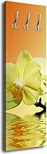 Garderobe mit Design Orchidee G440 40x125cm Wandgarderobe Entspannung Blume Relax