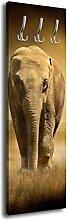 Garderobe mit Design Steppenelefant G156 40x125cm Wandgarderobe Kenia Tansania Elefan