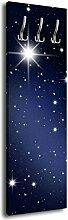 Garderobe mit Design Sternenhimmel G017 40x125cm Wandgarderobe Nacht Stern Astronomie