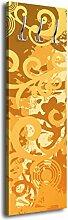 Garderobe mit Design Theresa G103 40x125cm Floral Muster Wandgarderobe Gelb