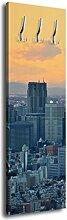 Garderobe mit Design Tokyo Shinjuku Rathaus G393 40x125cm Wandgarderobe Japan Tokio Skyline