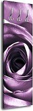 Garderobe mit Design VioleGe Rose G045 40x125cm Wandgarderobe Rose Blüte lila
