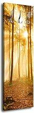 Garderobe mit Design Wald am Morgen G287 40x125cm Wandgarderobe Dunst Stimmung Baum