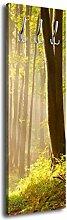 Garderobe mit Design Waldweg G022 40x125cm Wandgarderobe Wald Natur Baum