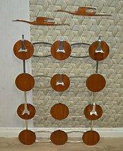 Garderobe mit runden Elementen aus Teak 1960er