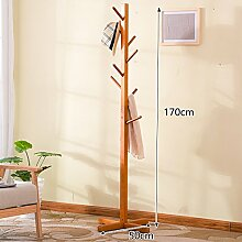 Garderobe Premier Housewares Boden Standing Coat Rack Baum Massiv Holz Holz Mit 8 Haken 170cm ( Farbe : 4# )