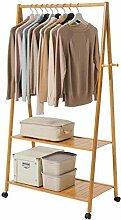 Garderobe, Rolling Bamboo Garment Rack,