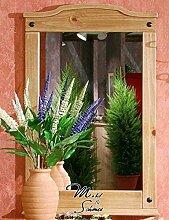 Garderobe Spiegel Wandspiegel 1497 Mexican Kiefer massiv antik gewachst Neu