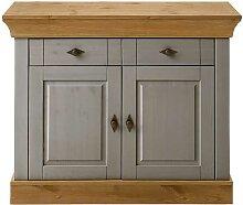 Garderoben Kommode in Grau Holz Kiefer Massivholz