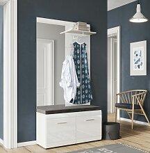 Garderoben Komplett Set Weiß