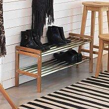 Garderoben Schuhregal aus Eiche Massivholz