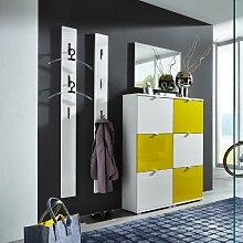 Garderoben Set »COLORADO131« Hochglanz weiß - gelb