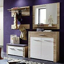 Garderoben Set CONTESTX258 Hochglanz weiß, San