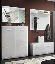 Garderoben Set DANARO-01 Hochglanz weiß
