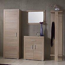 Garderoben Set Eiche Sonoma Schuhschrank Spiegel
