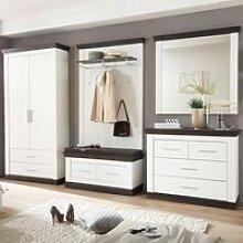 Garderoben-Set im Landhaus Stil mit Dielenschrank