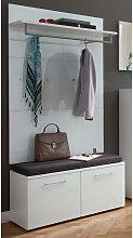 Garderoben Set ORLANDO-01, Glasfront weiß, B x H