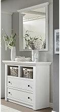 Garderoben-Set WINGST-61 Landhaus-Stil Pinie weiß