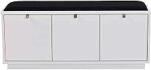Garderoben Sitzbank mit Schubladen Weiß