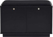 Garderobenbank in Schwarz 70 cm breit