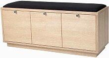 Garderobenbank mit Eiche furniert Schubladen