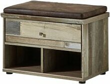 Garderobenbank Vintage Driftwood Braun BRANSON-36