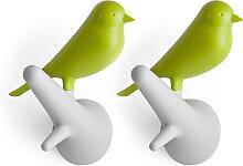 """Garderobenhaken """"Sperling"""" grün 2er Set"""